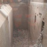 Hier fällt der sortierte Müll in den Bunker.