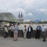 Der Blick zurück über den Rhein.